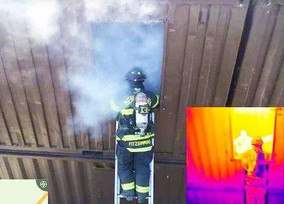 炎热夏季,红外热像仪助力消防工作