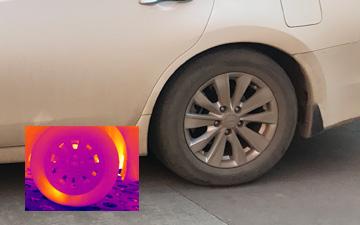 红外热像仪用于汽车轮胎检测
