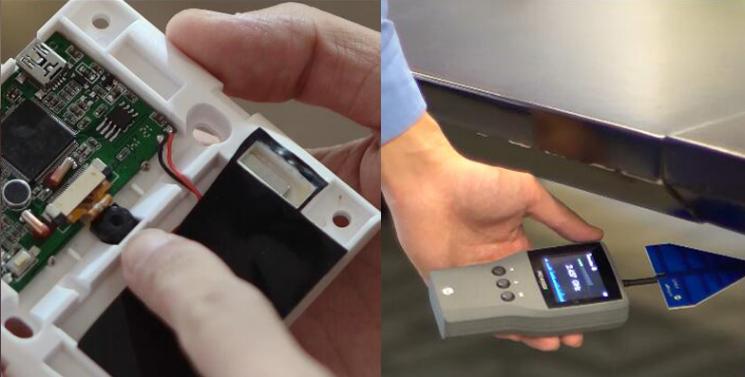 红外热像仪用于反窃听装置