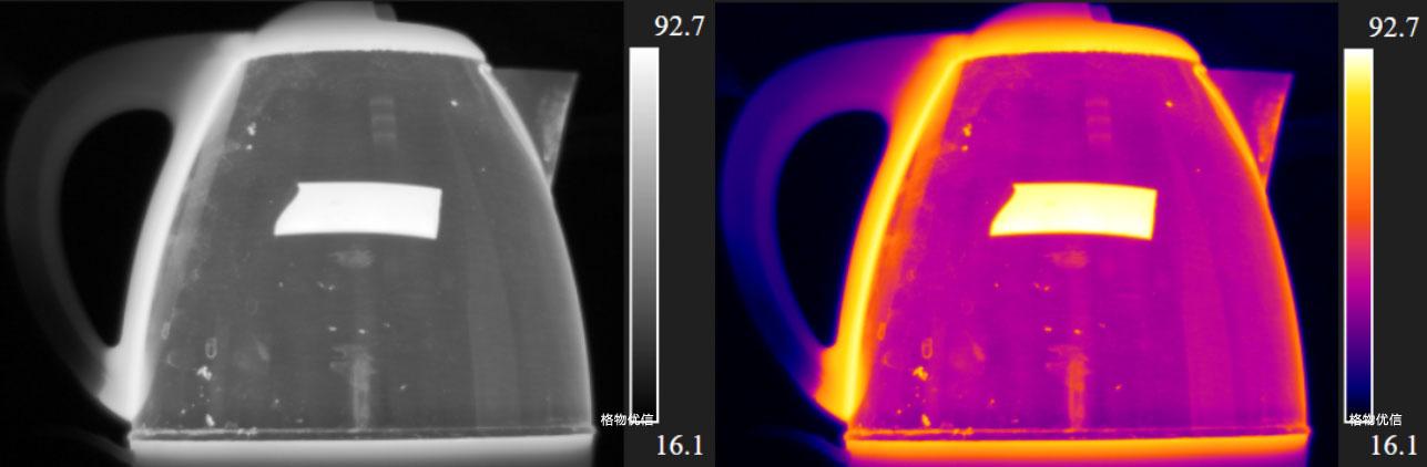 图像颜色对红外热像仪的影响