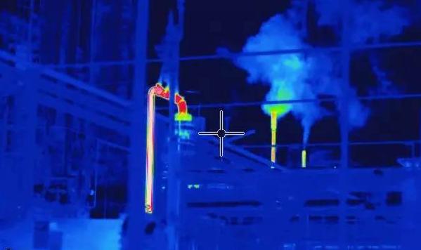 使用红外热成像进行气体泄漏检测