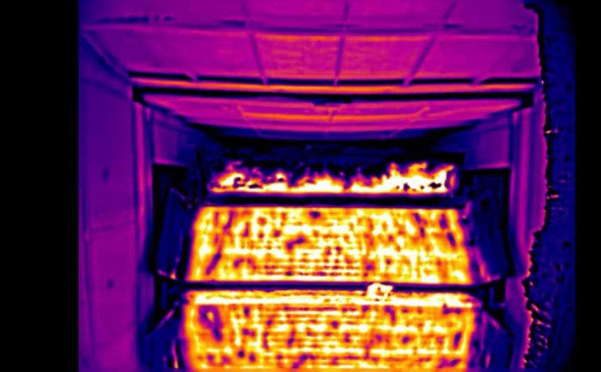 烧结红外热成像监控