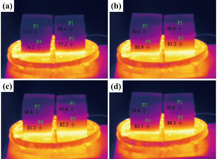 红外热像仪用于地质聚合物浆料的热学性能测试