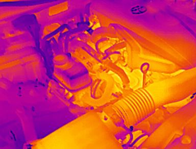 红外热像仪在汽车发动机上的检测应用