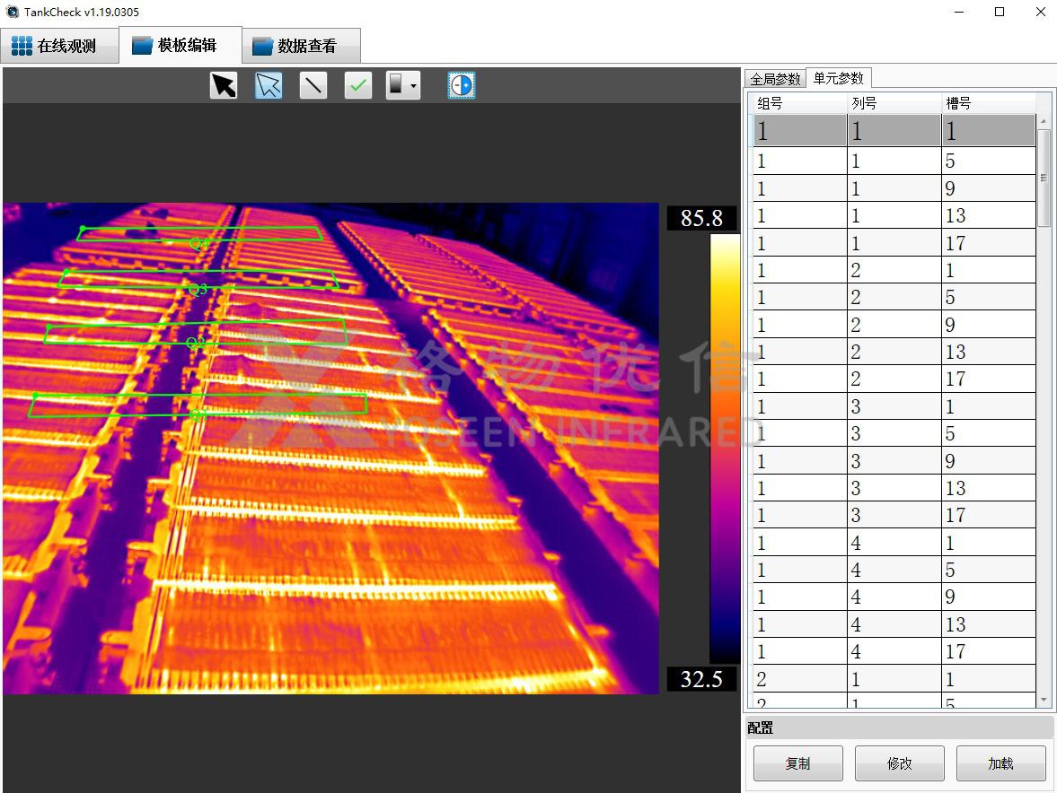 电解槽生产热成像在线监测系统