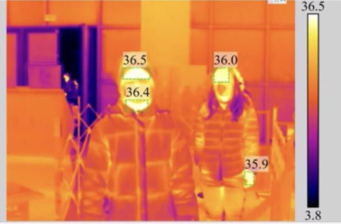 红外测温热像仪助力人体测温