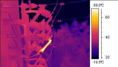 热像仪在互感器检测中的应用