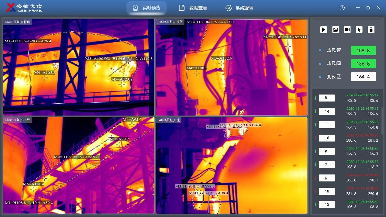 冶金热风炉热成像监控应用